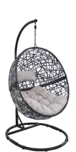 Jackson Hanging Egg Chair with Stand