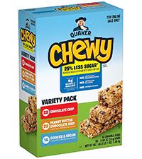reduced sugar granola bars
