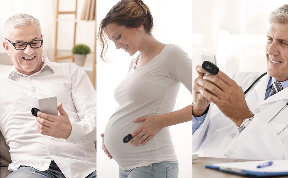Adecuado para diferentes personas, como el médico anciano y la mujer embarazada