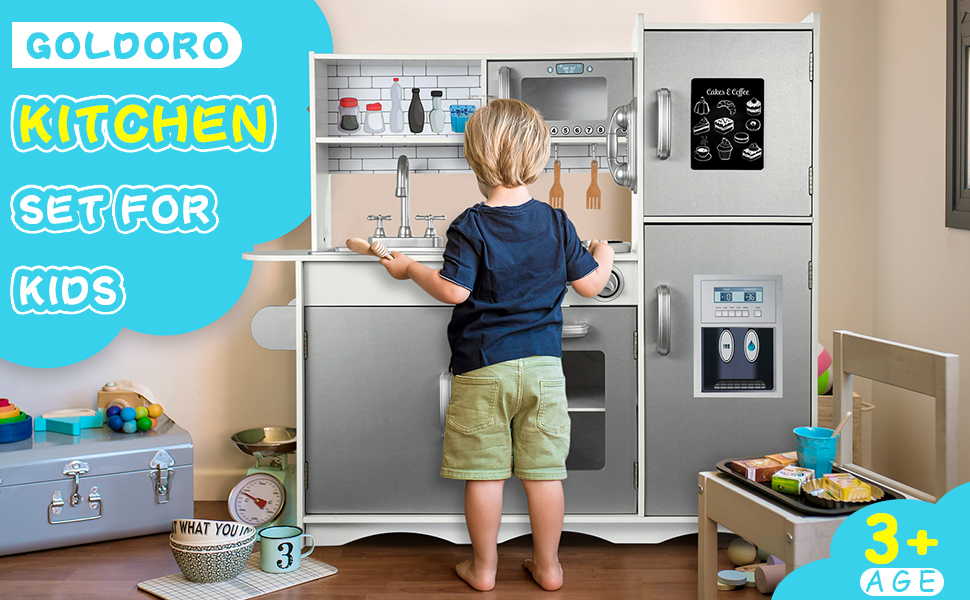 GOLDORO Kitchen Set for Kids