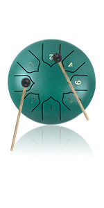 steel tongue drum 6 inch handpan drum for kids adults 8 note healing drum hang drum healing drum