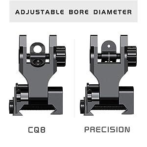 CQB and Precision Mode Flip Up Iron Sight