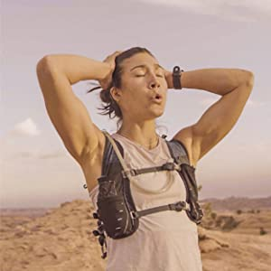 Photo portrays a trail runner, relying on DripDrop ORS to stay hydrated.
