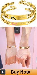 couple cuban bracelet for men women