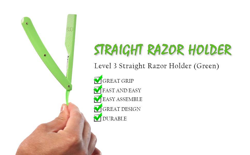 beard trimmer, razor holder, level 3 razor holder, safety razor, straight razor holder