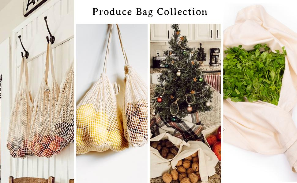 Cotton Produce Bags Reusable Produce Bags - Swag Produce Bags