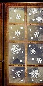 Christmas White Snowflake Window