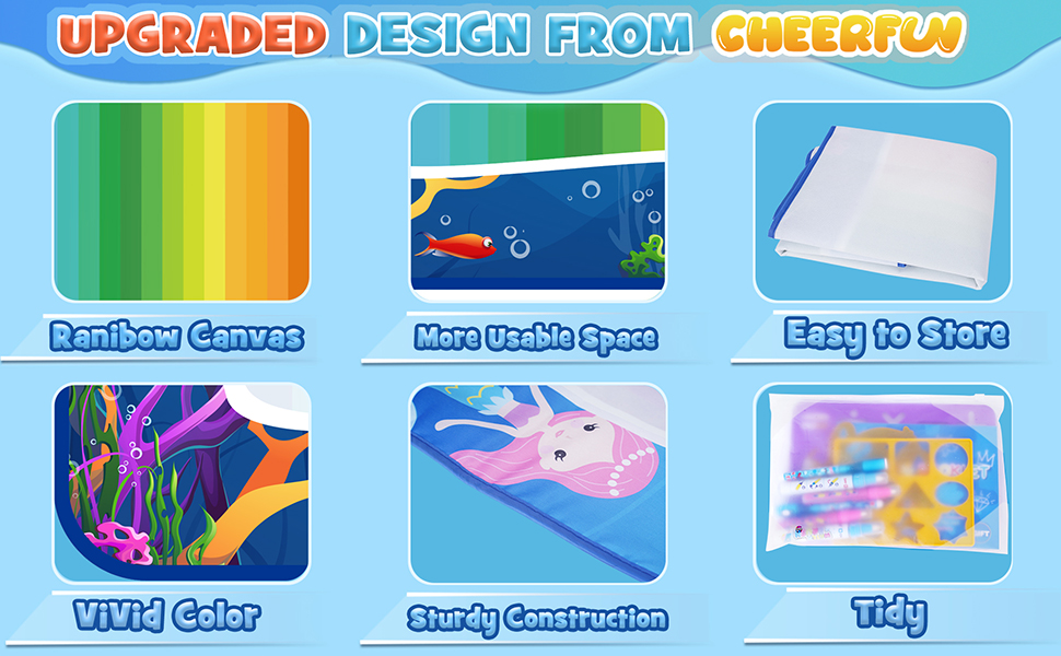 Upgraded Design of CHEERFUN water doodle mat