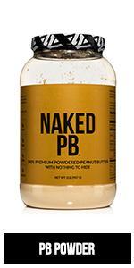 peanut butter powder, naked PB