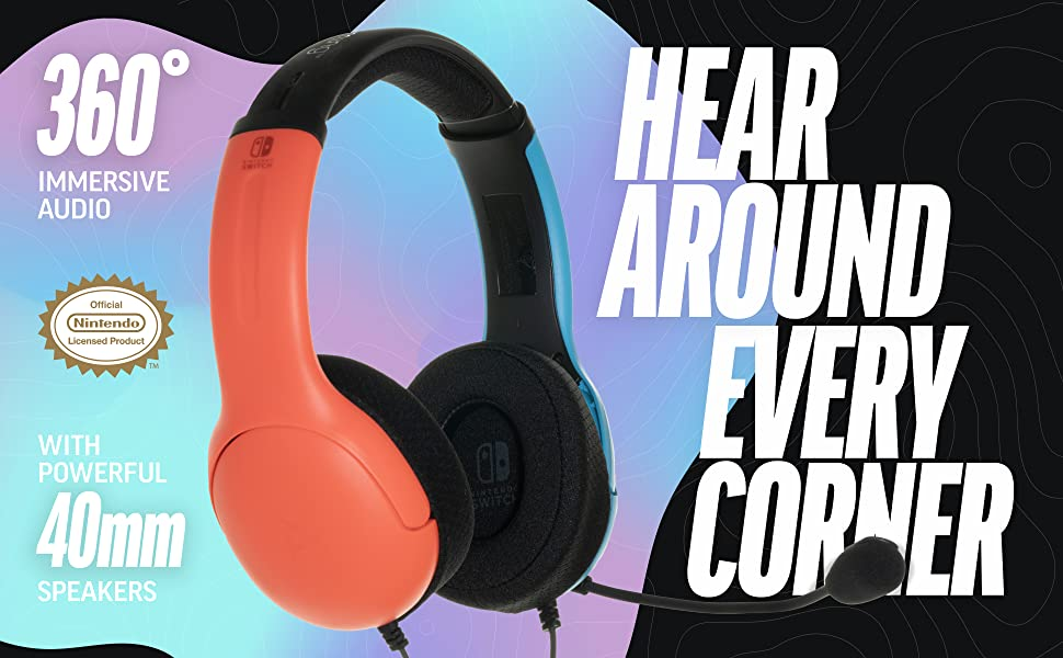 360 degree immersive audio with powerful 40MM speakers.