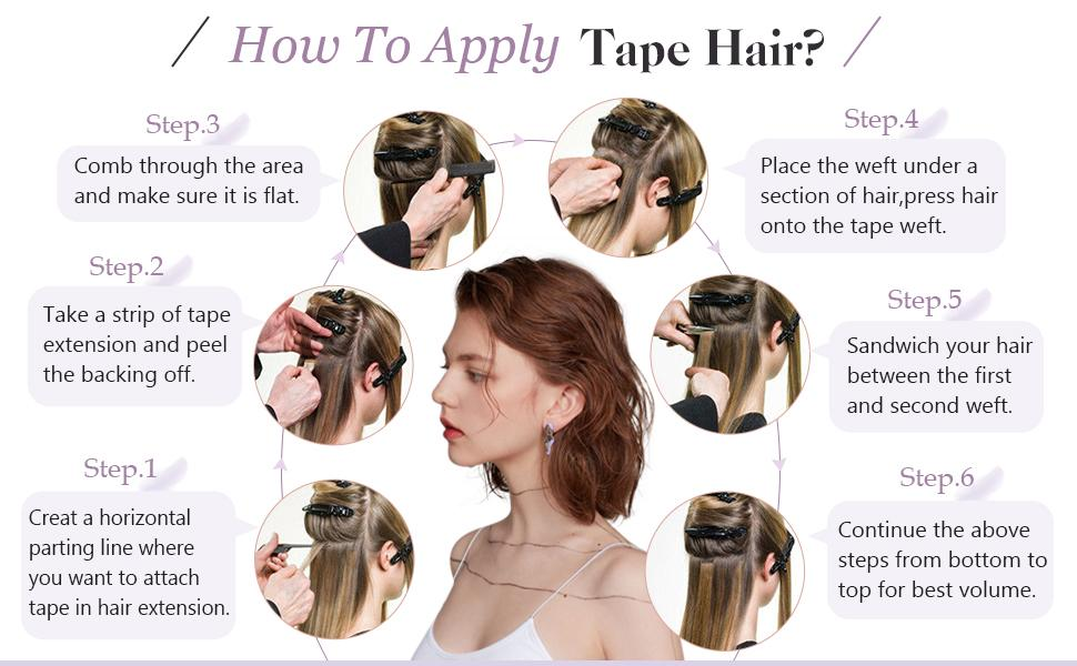 tape in hair extensions human hair tape in double sided glue in hair extensions