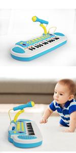 baby boys toys piano 31 keys blue
