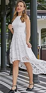 Sleeveless Bridesmaid Formal Swing Dress