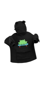 Cute frog hoodies for women teen girls