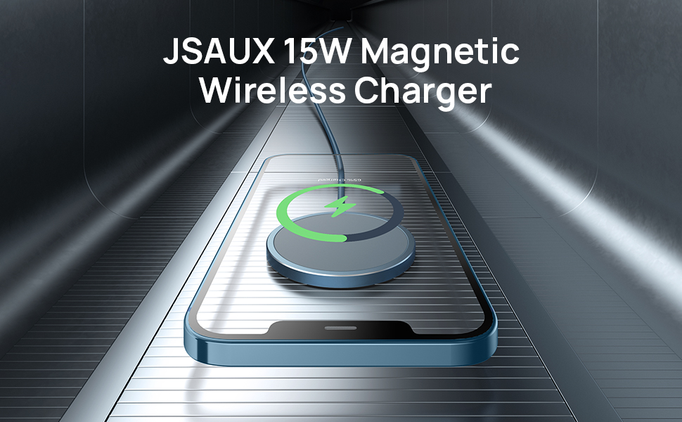 JSAUX 15W Magnetic Wireless Charger