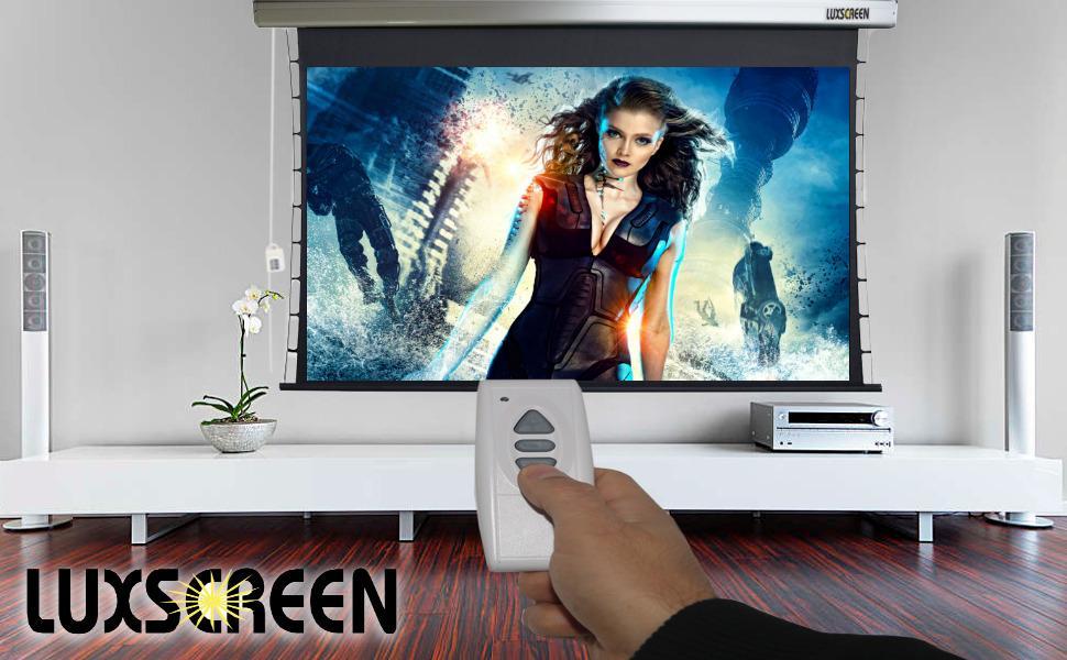 pantalla de proyeccion, pantalla para proyector, pantalla electrica proyector, pantalla tensionada