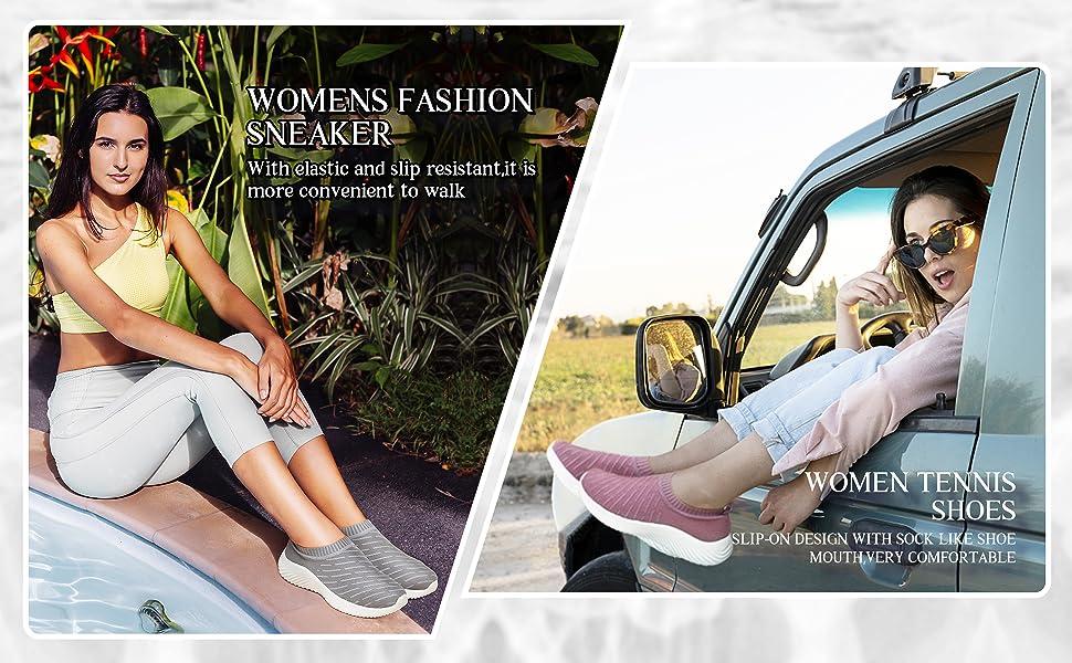 womens sneaker white black comfy footwear soft girl gym  pink fashion new comfort casual run elastic