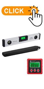 16-Inch Digital Torpedo Level and Protractor amp; Digital Angle Gauge