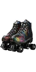 Double-Row Roller Skates