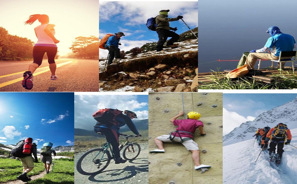 All kinds of outdoor activities