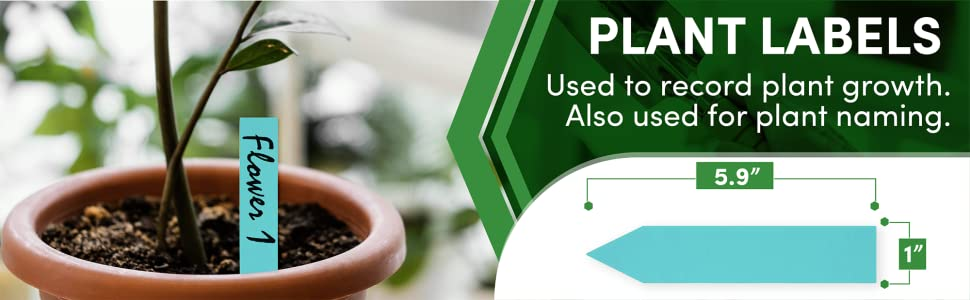 Plant labels Tags to record growth