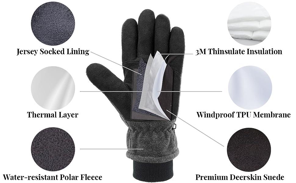 deerskin winter gloves