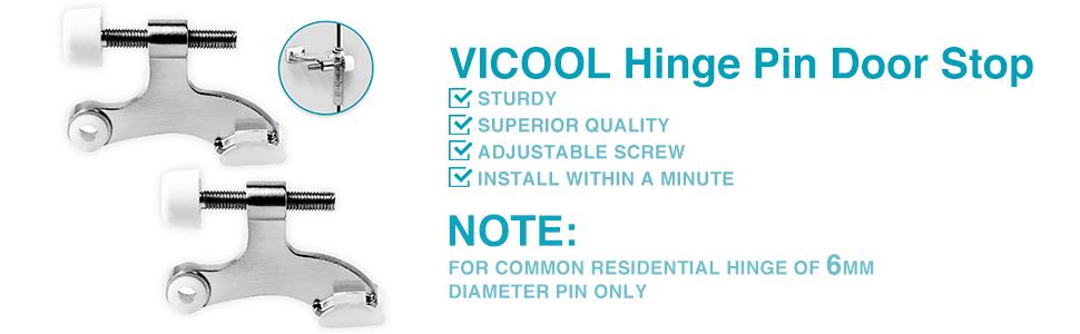 VICOOL Hinge pin door stop