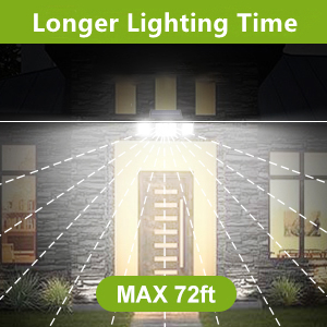 longer lighting time