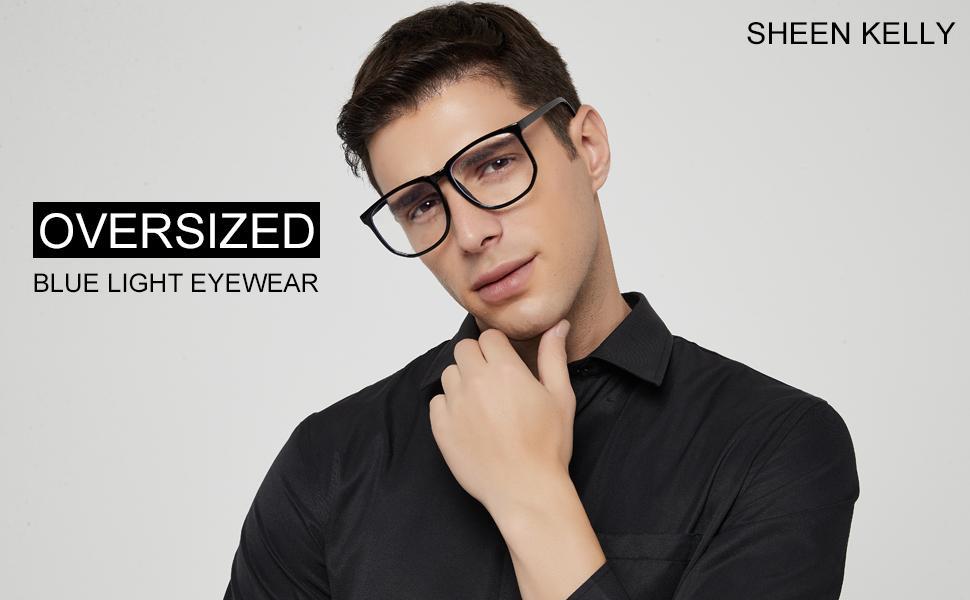 oversized men's blue light glasses blue light glasses men frame large