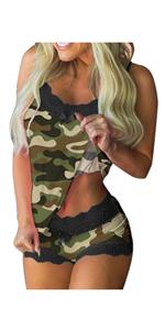 Camouflage print pajamas