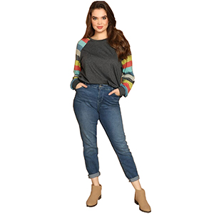 Casual stylish color block t-shirt for girls