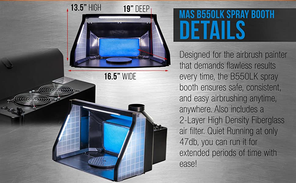 MAS B550LK Spray Booth