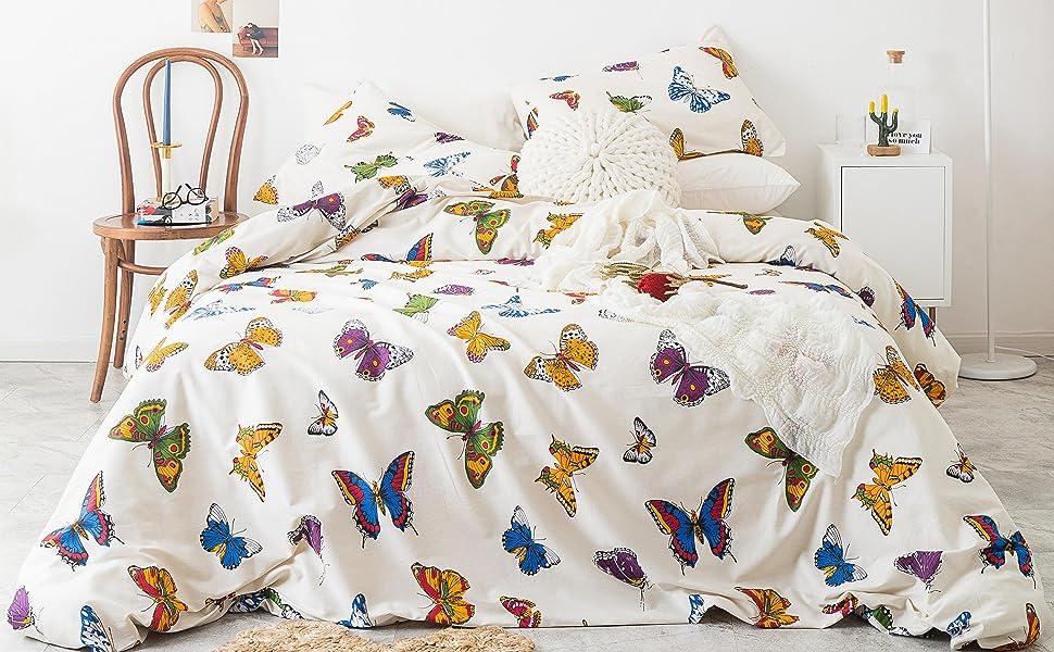 boho butterfly duvet cover
