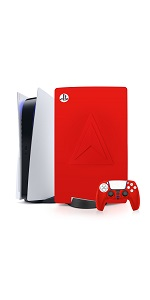 ps5 console skin cover red