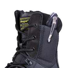 Military boots side pocket