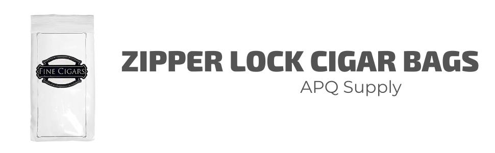 1000 Zipper Lock Cigar Bags 4 X 8 Pre-Printed Clear Plastic Poly