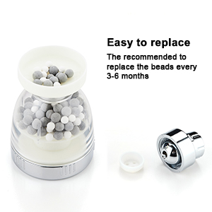 The recommended to replace the beads every 3-6 months