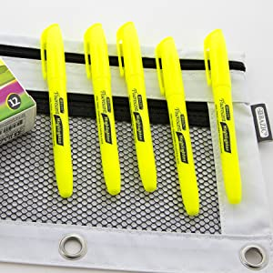 BAZIC Pen Style Fluorescent Highlighter