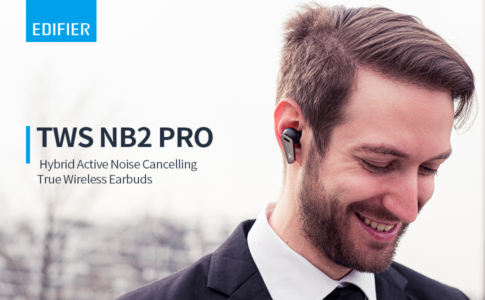 TWS NB2 Pro Hybrid Active Noise Cancelling True Wireless Earbuds