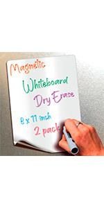 Magnetic dry erase whiteboard notes