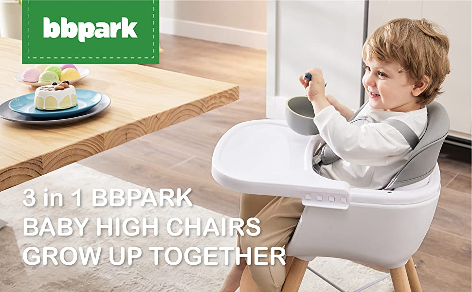 BBPARK 3 in 1 BABY HIGH CHAIRS