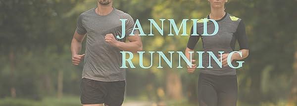 Janmid Men's Running pants with Zipper Pockets