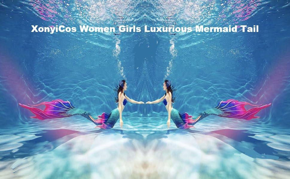 Women Kids Girls Luxurious Mermaid Tail