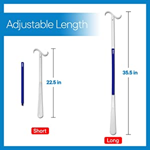 Image showing length, can be configured to be short or long