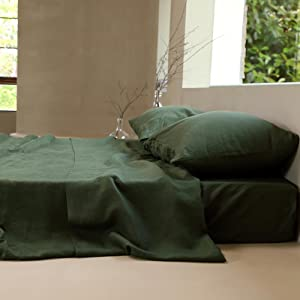 linen fitted sheet king size