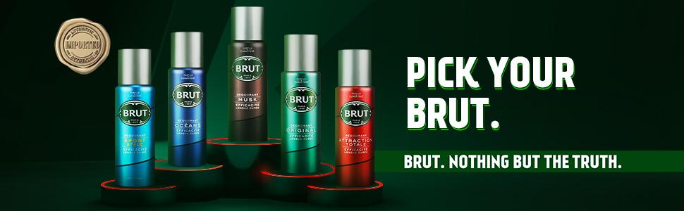 Brut,Brut Deodorant, Smells good, Fragrant deodorant, body odor, Ocean Deodorant, From Paris