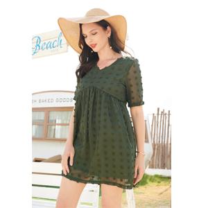 v neck plu size dress