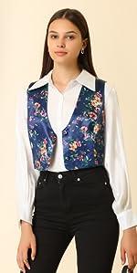 B0998GMGX8 Satin Waistcoat Vest