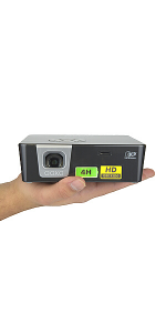 AAXA P6X 4 Hour Battery Mini Projector 1080P Support 1100 LED Lumens 1000 LED Lumen in Eco Mode