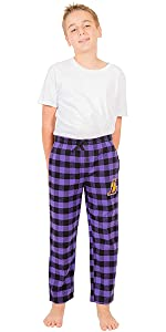 Ultra Game NBA Boys' Sleepwear Super Soft Flannel Pajama Loungewear Pants